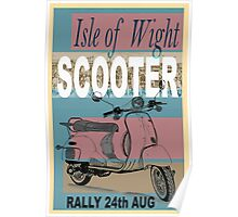 Isle of Writer Scooter Rally Poster