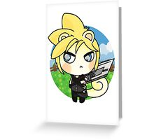 ACNL Cloud Strife Greeting Card