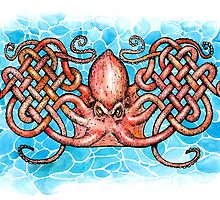 Celtic Octopus by SnakeArtist