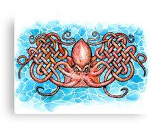 Celtic Octopus Canvas Print