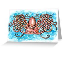 Celtic Octopus Greeting Card
