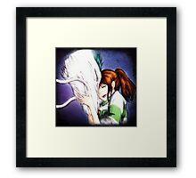 Spirited Away - Chihiro & Haku Framed Print