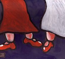 New Red Shoes by sword