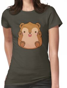 Teddy the Woodland fuzzy Womens Fitted T-Shirt