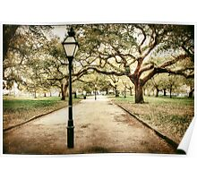 Charleston Battery Park in South Carolina Poster