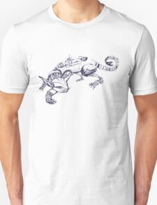 Cat Robot #1 Racer  T-Shirt