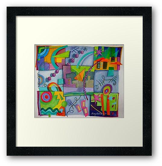Playful Squares by nancy salamouny