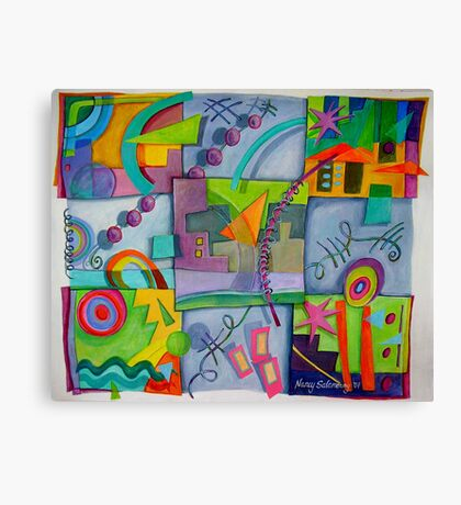 Playful Squares Canvas Print
