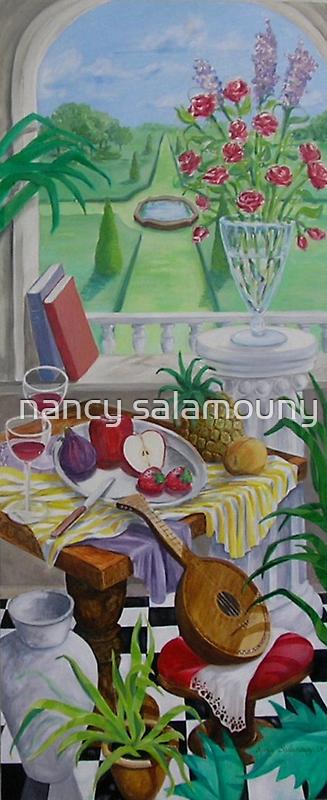 Still Life and Arch Window 2 by nancy salamouny