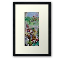 Still Life and Arch Window 2 Framed Print