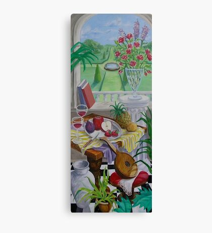Still Life and Arch Window 2 Canvas Print