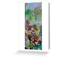 Still Life and Arch Window 2 Greeting Card