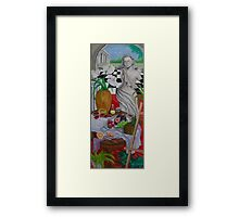 Still Life and Arch Window 1 Framed Print