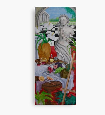 Still Life and Arch Window 1 Canvas Print