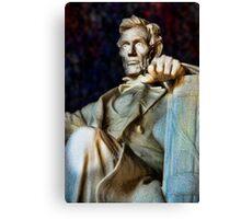 Lincoln Memorial Digital painting Canvas Print