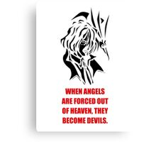 The Fallen Angel (black edition) Canvas Print
