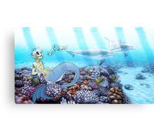 2d mermaid Canvas Print