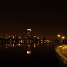 Boston at Night - 1  by Can Berkol