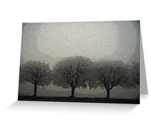 Trees in a Line Greeting Card