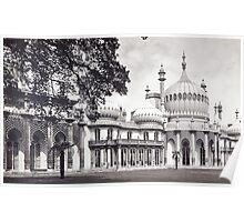 Royal Pavilion Brighton Black & White Poster