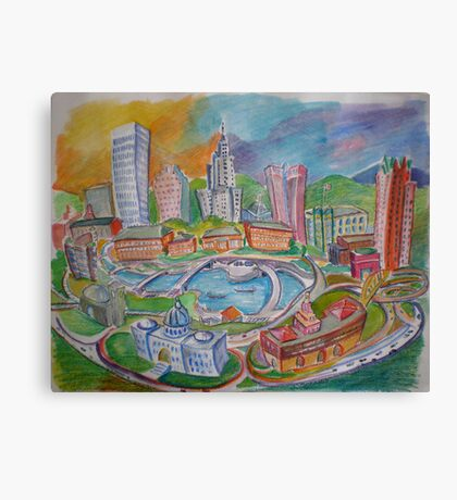 Providence, Rhode Island.... A Colorful City Canvas Print