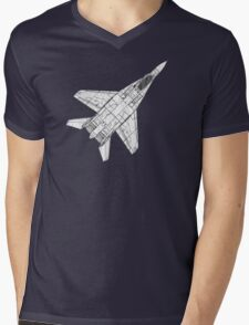Mig 29 Fighter Plane Mens V-Neck T-Shirt