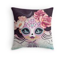 Camila Huesitos - Sugar Skull Throw Pillow