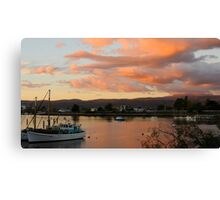 Sunset Over Launceston, Tasmania. Canvas Print