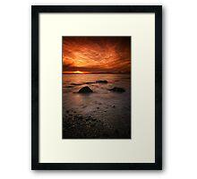 Jura Sunset Framed Print