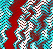Digital Distortion - Zig Zag by SRowe Art