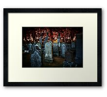 Turned to stone Framed Print