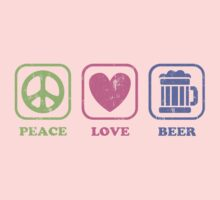 Peace Love And Beer Kids Tee