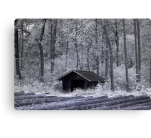 Hut in infrared Canvas Print