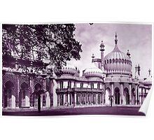 Royal Pavilion Brighton Purple Duotone Poster