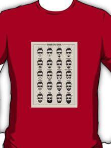 beard style guide poster T-Shirt