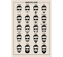 beard style guide poster Photographic Print