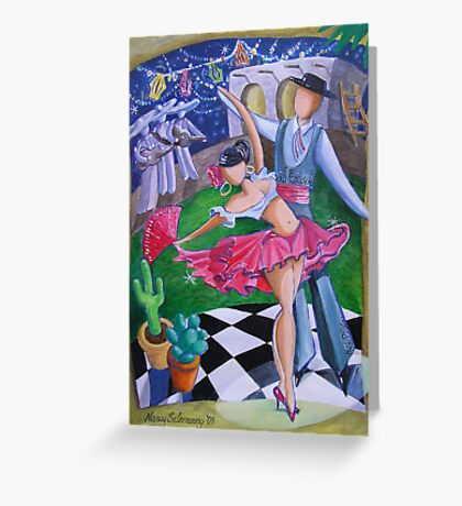 Spicy Salsa Dance Greeting Card