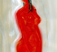 "Naked Girl Painting ""Wait for You"" by SarahMuldoon"