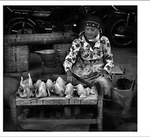 chicken seller by rieva