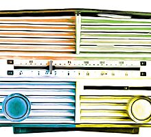 Vintage Radio Pop Art by Edward Fielding