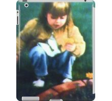 Little Girl With Marigolds iPad Case/Skin