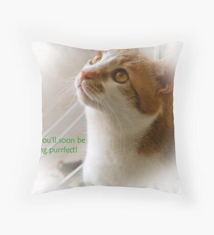 Get Well Card Throw Pillow