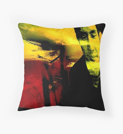 Cafe ECO inside/outside  thinking    Throw Pillow