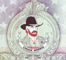 Chuck the war hero & karate movie star Sticker