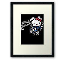 kitty Street Fighter Framed Print