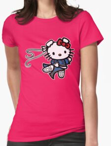 kitty Street Fighter Womens Fitted T-Shirt