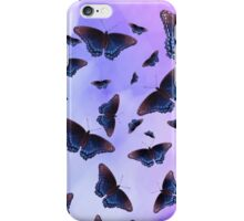 Blue Wing Butterflies Evening Purple Haze iPhone Case/Skin