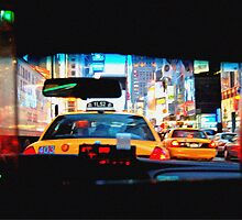 Taxi cab by Tom  Marriott