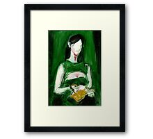 "Fashion and Victim Painting ""Green and Beauty"" Framed Print"