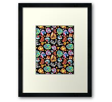 abstract pattern of polygons Framed Print
